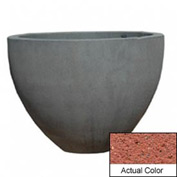 Wausau TF4132 Round Outdoor Planter - Weatherstone Brick Red 60x42
