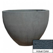 Wausau TF4132 Round Outdoor Planter - Weatherstone Charcoal 60x42