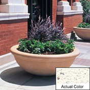 Wausau TF4144 Round Outdoor Planter - Weatherstone White 48x18