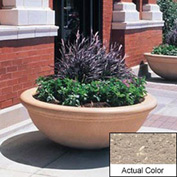 Wausau TF4144 Round Outdoor Planter - Weatherstone Buff 48x18