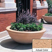 Wausau TF4144 Round Outdoor Planter - Weatherstone Cream 48x18