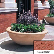 Wausau TF4144 Round Outdoor Planter - Weatherstone Brick Red 48x18