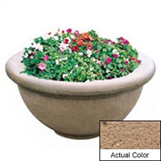 Wausau TF4146 Round Outdoor Planter - Weatherstone Sand 36x18