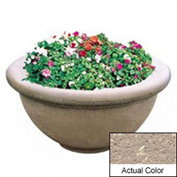 Wausau TF4146 Round Outdoor Planter - Weatherstone Buff 36x18
