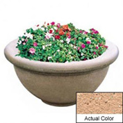 Wausau TF4146 Round Outdoor Planter - Weatherstone Cream 36x18