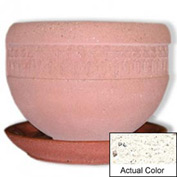 Wausau TF4148 Round Outdoor Planter Saucer - Weatherstone White 36x5