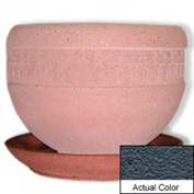 Wausau TF4148 Round Outdoor Planter Saucer - Weatherstone Charcoal 36x5