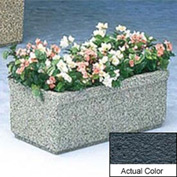 Wausau TF4150 Rectangular Outdoor Planter - Weatherstone Charcoal 36x18x14
