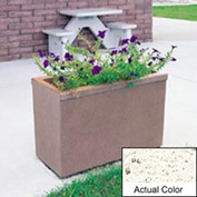Wausau TF4155 Rectangular Outdoor Planter - Weatherstone White 36x18x25