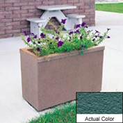 Wausau TF4155 Rectangular Outdoor Planter - Weatherstone Soulard Green 36x18x25