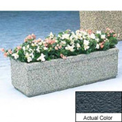 Wausau TF4160 Rectangular Outdoor Planter - Weatherstone Charcoal 48x18x14