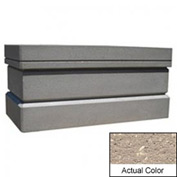 Wausau TF4167 Rectangular Outdoor Planter - Weatherstone Buff 64x32x32