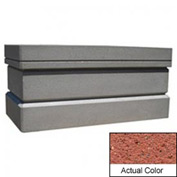 Wausau TF4167 Rectangular Outdoor Planter - Weatherstone Brick Red 64x32x32