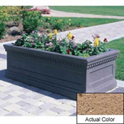 Wausau TF4176 Rectangular Outdoor Planter - Weatherstone Sand 72x30x30