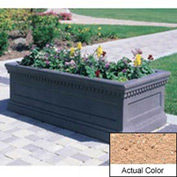 Wausau TF4176 Rectangular Outdoor Planter - Weatherstone Cream 72x30x30