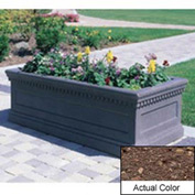 Wausau TF4176 Rectangular Outdoor Planter - Weatherstone Brown 72x30x30