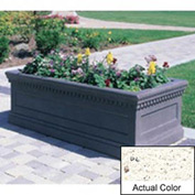Wausau TF4177 Rectangular Outdoor Planter - Weatherstone White 96x30x30