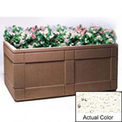 Wausau TF4183 Rectangular Outdoor Planter - Weatherstone White 72x48x33
