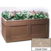 Wausau TF4183 Rectangular Outdoor Planter - Weatherstone Buff 72x48x33