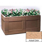 Wausau TF4183 Rectangular Outdoor Planter - Weatherstone Cream 72x48x33