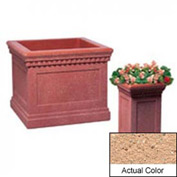 Wausau TF4184 Square Outdoor Planter - Weatherstone Cream 14x14x24