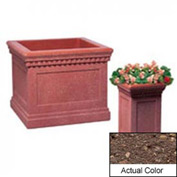 Wausau TF4184 Square Outdoor Planter - Weatherstone Brown 14x14x24