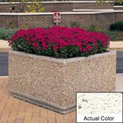Wausau TF4195 Square Outdoor Planter - Weatherstone White 36x36x30
