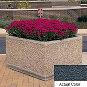 Wausau TF4195 Square Outdoor Planter - Weatherstone Charcoal 36x36x30