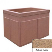 Wausau TF4202 Rectangular Outdoor Planter - Weatherstone Sand 48x36x36