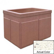 Wausau TF4202 Rectangular Outdoor Planter - Weatherstone White 48x36x36