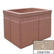 Wausau TF4202 Rectangular Outdoor Planter - Weatherstone Buff 48x36x36