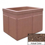 Wausau TF4202 Rectangular Outdoor Planter - Weatherstone Brown 48x36x36