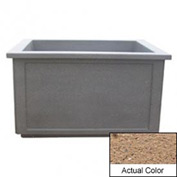 Wausau TF4208 Rectangular Outdoor Planter - Weatherstone Sand 60x52x36