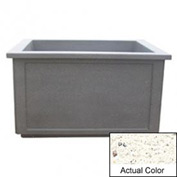 Wausau TF4208 Rectangular Outdoor Planter - Weatherstone White 60x52x36