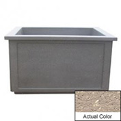 Wausau TF4208 Rectangular Outdoor Planter - Weatherstone Buff 60x52x36