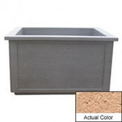 Wausau TF4208 Rectangular Outdoor Planter - Weatherstone Cream 60x52x36