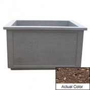 Wausau TF4208 Rectangular Outdoor Planter - Weatherstone Brown 60x52x36