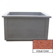 Wausau TF4208 Rectangular Outdoor Planter - Weatherstone Brick Red 60x52x36