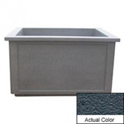 Wausau TF4208 Rectangular Outdoor Planter - Weatherstone Charcoal 60x52x36
