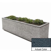 Wausau TF4213 Rectangular Outdoor Planter - Weatherstone Charcoal 96x48x36