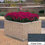 Wausau TF4214 Square Outdoor Planter - Weatherstone Charcoal 96x96x36