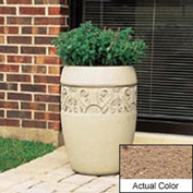 Wausau TF4219 Round Outdoor Planter - Weatherstone Sand 18x25