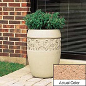 Wausau TF4219 Round Outdoor Planter - Weatherstone Cream 18x25