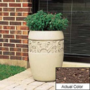 Wausau TF4219 Round Outdoor Planter - Weatherstone Brown 18x25