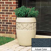 Wausau TF4219 Round Outdoor Planter - Weatherstone Charcoal 18x25