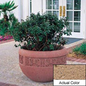 Wausau TF4220 Round Outdoor Planter - Weatherstone Sand 36x24