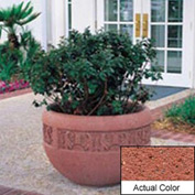 Wausau TF4220 Round Outdoor Planter - Weatherstone Brick Red 36x24