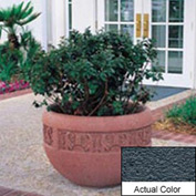 Wausau TF4220 Round Outdoor Planter - Weatherstone Charcoal 36x24
