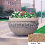Wausau TF4226 Round Outdoor Planter - Weatherstone Sand 42x24