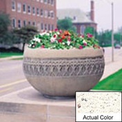 Wausau TF4226 Round Outdoor Planter - Weatherstone White 42x24